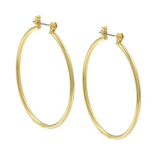 City by City City Style Goldtone Polished Hoop Earrings https://ak1.ostkcdn.com/images/products/7619432/7619432/City-Style-Goldtone-Polished-Hoop-Earrings-P15040274.jpg?impolicy=medium