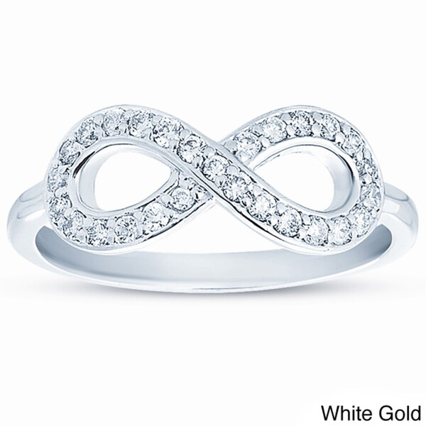 Eloquence 10k Gold 1/4ct TDW Diamond Infinity Ring (H-I, I1-I2)