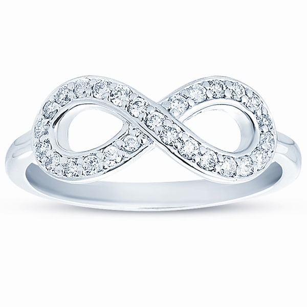 Eloquence 10k Gold 1/4ct TDW Diamond Infinity Ring