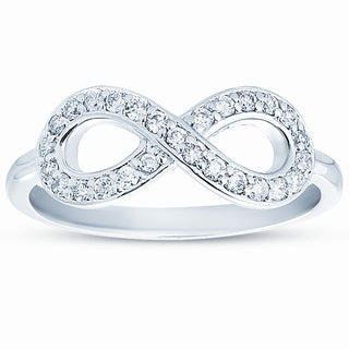 Eloquence 10k Gold 1/4ct TDW Diamond Infinity Ring (H-I, I1-I2)