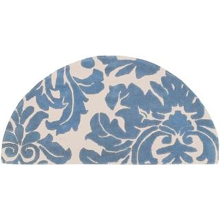 Hand-tufted Slate Blue Mondial Wool Rug (2' x 4' Hearth)