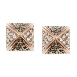 City by City City Style Rose Goldtone Cubic Zirconia and Marcasite Earrings