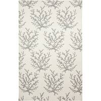 Hand-woven Gremlin White Wool Area Rug - 2' x 3'