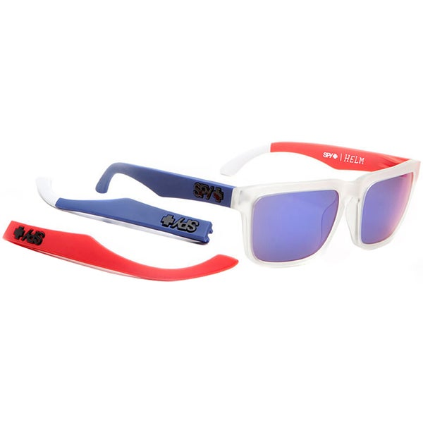 Spy Optic Helm Team America Sunglasses Grey with Purple Spectra