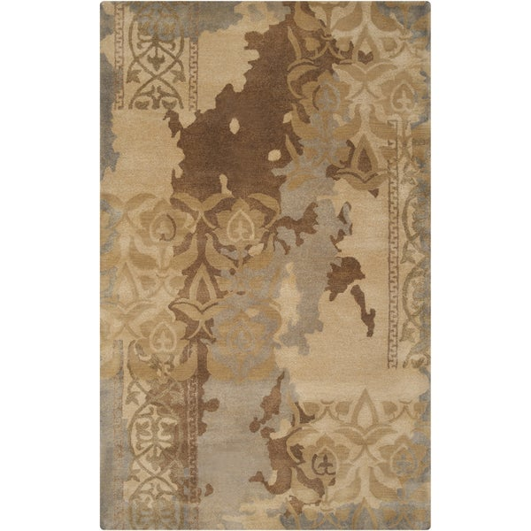 Hand-tufted Sonoma Grey Abstract Floral Wool Rug (2' x 3')
