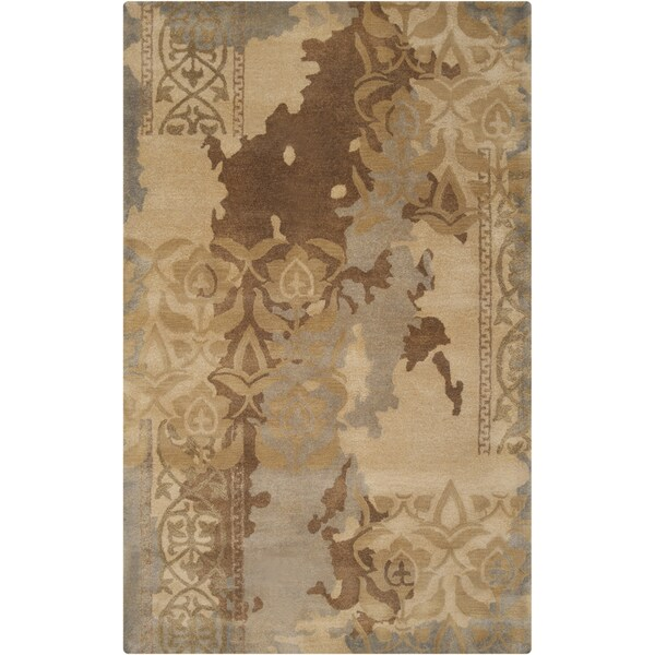 Hand-tufted Sonoma Grey Abstract Floral Wool Area Rug - 2' x 3'