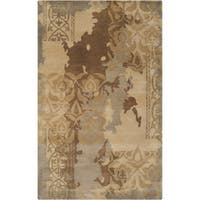 Hand-tufted Sonoma Bronze Abstract Floral Wool Area Rug - 8' x 11'