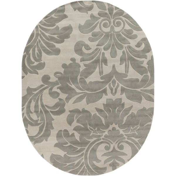 Hand-tufted Bay Leaf Modena Wool Rug (6' x 9' Oval)