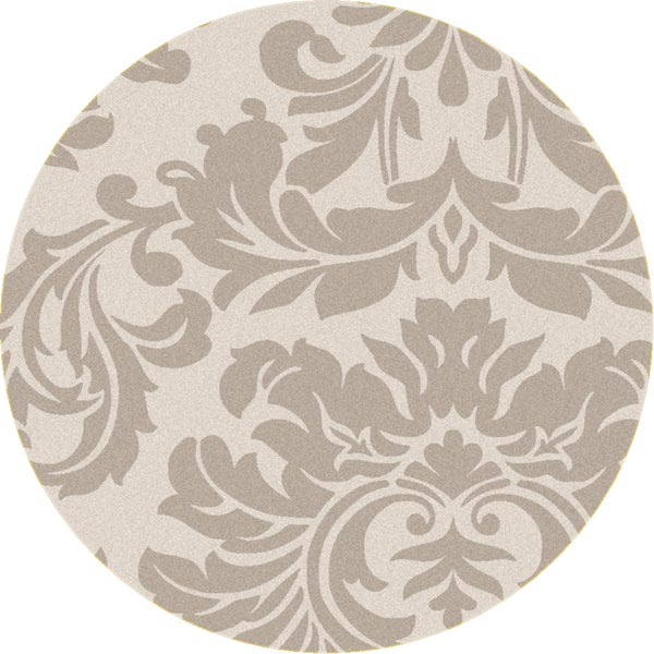 Hand-tufted Bay Leaf Modena Wool Rug (4' Round)