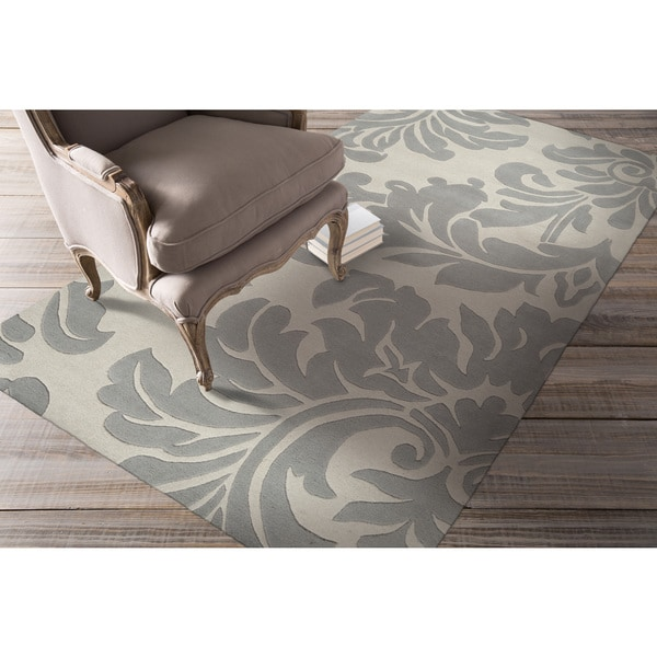 Hand-tufted Bay Leaf Modena Wool Rug (4' x 6')