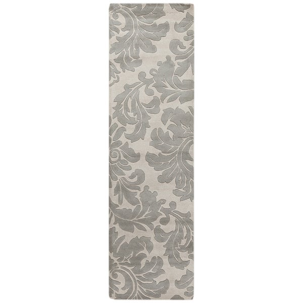Hand-tufted Bay Leaf Modena Wool Rug (3' x 12')