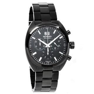 Movado Men's Datron Chronograph Black PVD Watch