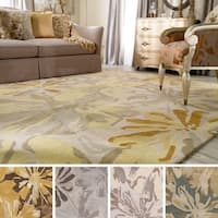 Hand-tufted Putty Wrigley Wool Area Rug (2' x 3')