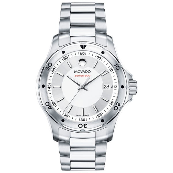 Movado Men's 800 Performance Silver Dial Stainless Steel Watch