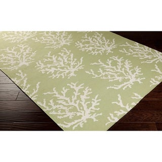 Handwoven Horizon Lettuce Leaf Abstract Wool Rug (2' x 3')