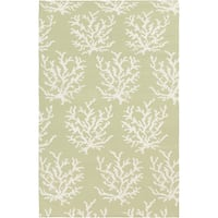 Hand-woven Horizon Lettuce Leaf Wool Area Rug - 5' x 8'