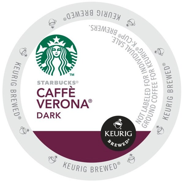 Starbucks Cafe Verona Coffee K-Cups for Keurig Brewers