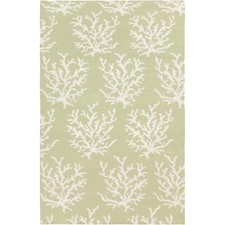Handwoven Horizon Lettuce Leaf Wool Rug (8' x 11')