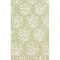 Hand-woven Horizon Lettuce Leaf Wool Area Rug - 8' x 11'