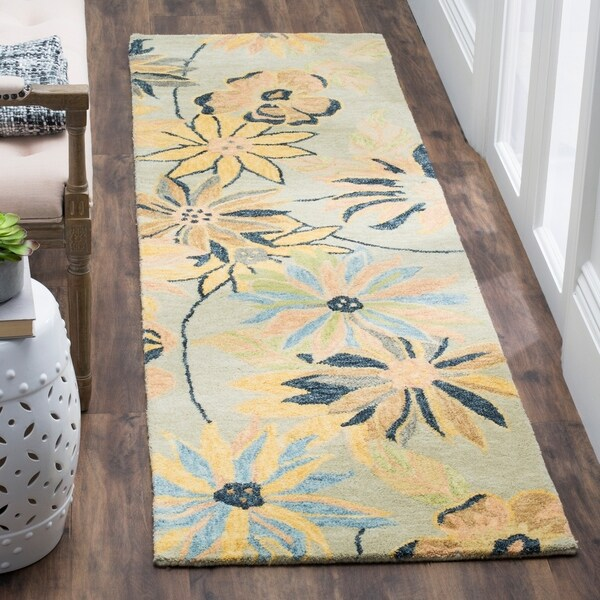 Shop Safavieh Handmade Blossom Cara Modern Floral Wool Rug
