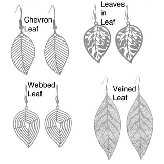 NEXTE Jewelry Stainless Steel Leaf Design Dangle Earrings
