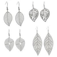 NEXTE Jewelry Stainless Steel Leaf Design Dangle Earrings