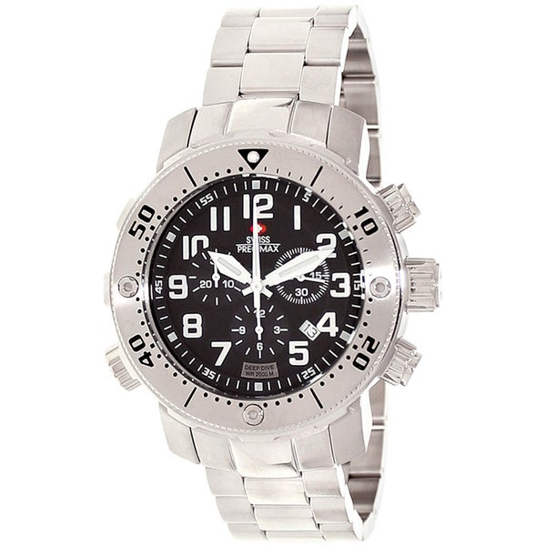 Swiss Precimax Men's Steel Poseidon Deep Dive Pro Watch