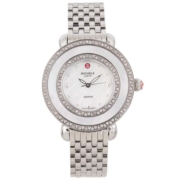 Michele Women's Stainless Steel 'Cloette' Diamond Watch