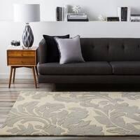 Hand-tufted Bay Leaf Fiero Wool Area Rug - 6' x 9'