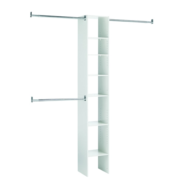 Black & Decker White 7-shelf Closet Organizer