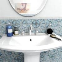 SomerTile 11.75x11.75-inch Luna Diva Blue Porcelain Mosaic Floor and Wall Tile (10 tiles/9.79 sqft.)