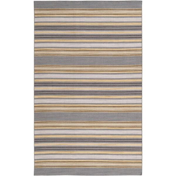 Handwoven Marcos Mustard Wool Rug (8' x 11')