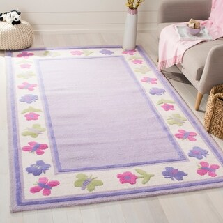 Safavieh Handmade Children's Butterflies Garden New Zealand Wool Rug
