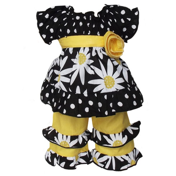 AnnLoren 2 piece Daisies & Dots Outfit fits American Girl Doll