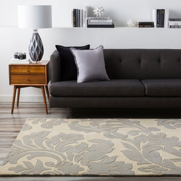 Hand-tufted Bay Leaf Modena Wool Area Rug - 9' x 12'
