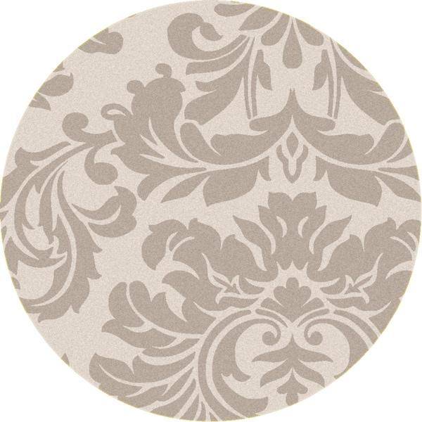 Hand-tufted Bay Leaf Modena Wool Rug (6' Round)