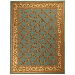 Ottomanson Printed Ottohome Trellis Sage Area Rug (3'3 x 4'6)