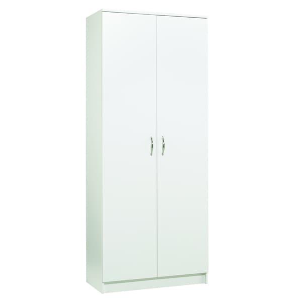 akadaHOME 72-inch White Storage Cabinet