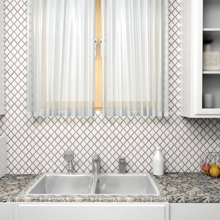 SomerTile 9.75x11-inch Casablanca Matte White Porcelain Mosaic Floor and Wall Tile (Case of 10)