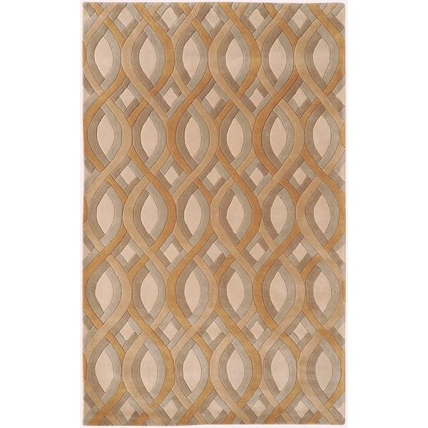 Silver Orchid Genevois Hand-tufted Tan Geometric PWool Area Rug - 9' x 13'