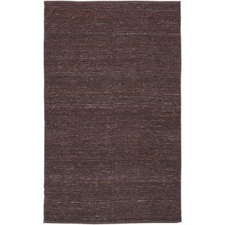 Hand-woven Foligno Purple Natural Fiber Jute Rug (3'6 x 5'6)