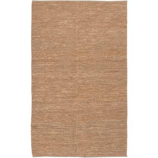 Hand-woven Moncalieri Wheat Natural Fiber Jute Rug (3'6 x 5'6)