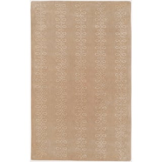 Hand-tufted Agrigento Desert Sand Geometric Wool Rug (8' x 11')
