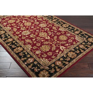 Hand-tufted Tivoli Scarlet Wool Rug (10' x 14')