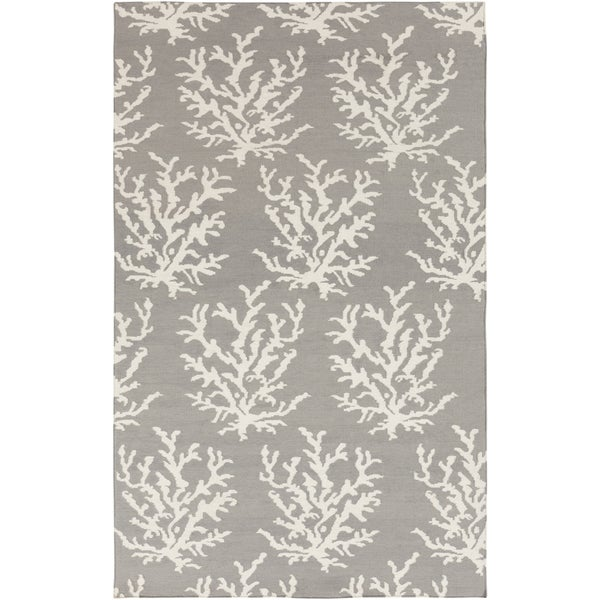 Hand-woven Jetta Light Grey Wool Rug (2' x 3')