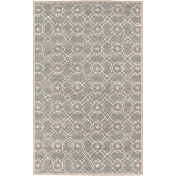Hand-tufted Acerra Blue Grey New Zealand Wool Rug (3'3 x 5'3)