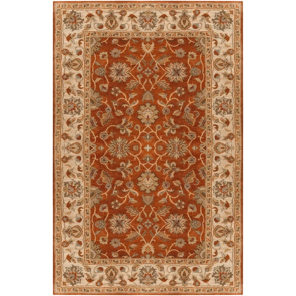 Hand-tufted Sanremo Raw Sienna Wool Area Rug (10' x 14')