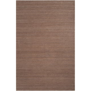 Hand-woven Justy Brown Reversible Jute Rug Rug (2' x 3')