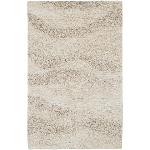 Carson Carrington Haukipudas Hand-woven Ivory Wool Plush Shag Area Rug - 9' x 13'