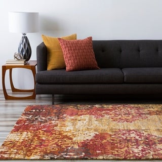 Hand-knotted Lanos Tan Wool Area Rug - 9' x 13'